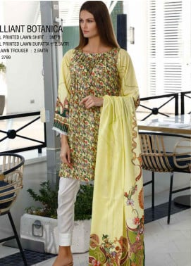 Ittehad Textiles Printed Lawn Unstitched 3 Piece Suit ITD20DL 006 BRILLIANT BOTANICA - Summer Collection