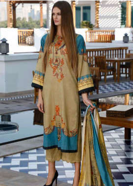 Ittehad Textiles Printed Lawn Unstitched 3 Piece Suit ITD20DL 008 CARAMEL DELIGHT - Summer Collection