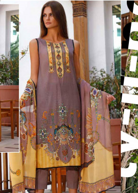 Ittehad Textiles Printed Lawn Unstitched 3 Piece Suit ITD20DL 012 BEAUTY BERRY - Summer Collection