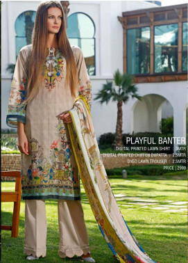 Ittehad Textiles Printed Lawn Unstitched 3 Piece Suit ITD20DL 015 PLAYFUL BANTER - Summer Collection
