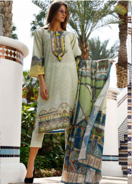 Ittehad Textiles Printed Lawn Unstitched 3 Piece Suit ITD20DL 018 JADE FLORAL - Summer Collection