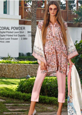 Ittehad Textiles Printed Lawn Unstitched 3 Piece Suit ITD20DL 020 CORAL POWDER - Summer Collection
