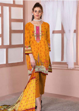 Ittehad Textiles Printed Lawn Unstitched 3 Piece Suit ITD20CL 53A - Summer Collection