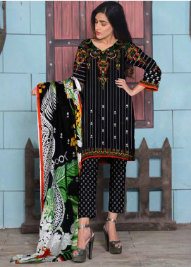 Ittehad Textiles Printed Lawn Unstitched 3 Piece Suit ITD20CL 54B - Summer Collection