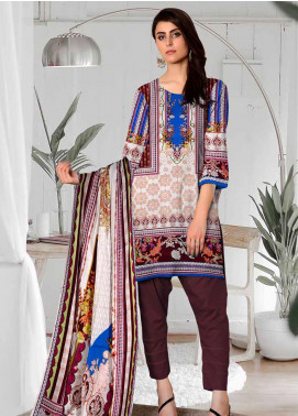 Ittehad Textiles Printed Lawn Unstitched 3 Piece Suit ITD20CL 55A - Summer Collection