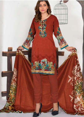 Ittehad Textiles Printed Lawn Unstitched 3 Piece Suit ITD20CL 60A - Summer Collection