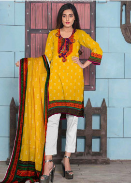 Ittehad Textiles Printed Lawn Unstitched 3 Piece Suit ITD20CL 61B - Summer Collection
