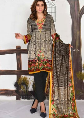 Ittehad Textiles Printed Lawn Unstitched 3 Piece Suit ITD20CL 64A - Summer Collection