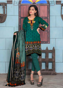 Ittehad Textiles Printed Lawn Unstitched 3 Piece Suit ITD20CL 69B - Summer Collection