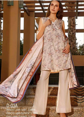 Ittehad Textiles Printed Lawn Unstitched 3 Piece Suit ITD20CS 03A - Summer Collection