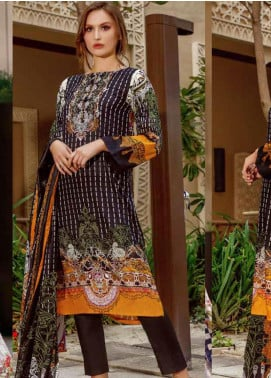 Ittehad Textiles Printed Lawn Unstitched 3 Piece Suit ITD20CS 10A - Summer Collection