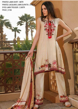 Ittehad Textiles Printed Lawn Unstitched 3 Piece Suit ITD20CS 16B - Summer Collection