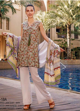 Ittehad Textiles Printed Lawn Unstitched 3 Piece Suit ITD20CS 18A - Summer Collection