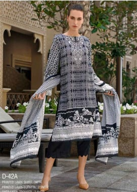 Ittehad Textiles Printed Lawn Unstitched 3 Piece Suit ITD20CS 42A - Summer Collection