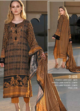 Ittehad Textiles Printed Lawn Unstitched 3 Piece Suit ITD20CS 42B - Summer Collection