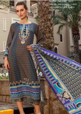 Ittehad Textiles Printed Lawn Unstitched 3 Piece Suit ITD20CS 43A - Summer Collection