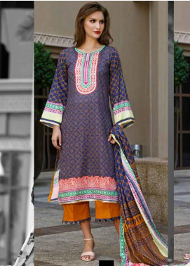 Ittehad Textiles Printed Lawn Unstitched 3 Piece Suit ITD20CS 44A - Summer Collection
