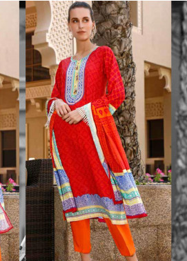 Ittehad Textiles Printed Lawn Unstitched 3 Piece Suit ITD20CS 44B - Summer Collection