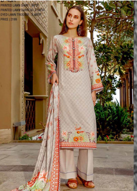 Ittehad Textiles Printed Lawn Unstitched 3 Piece Suit ITD20CS 45A - Summer Collection