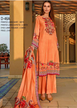 Ittehad Textiles Printed Lawn Unstitched 3 Piece Suit ITD20CS 46A - Summer Collection