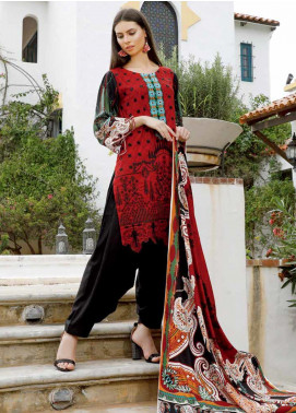 Ittehad Textiles Embroidered Linen Unstitched 3 Piece Suit ITD19DW CAMELLIA - Winter Collection