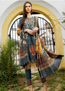 Ittehad Textiles Embroidered Linen Unstitched 3 Piece Suit ITD19DW DEEP JUNGLE - Winter Collection