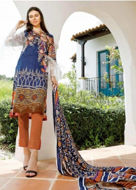 Ittehad Textiles Embroidered Khaddar Unstitched 2 Piece Suit ITD19DW DIVA BLUE - Winter Collection