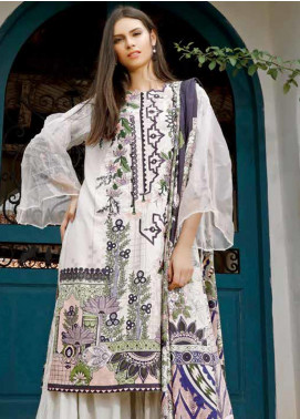 Ittehad Textiles Embroidered Linen Unstitched 3 Piece Suit ITD19DW LILY WHITE - Winter Collection