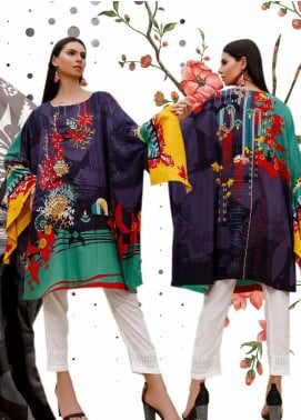 Ittehad Textiles Embroidered Linen Unstitched Kurties ITD19DW MEADOW VIOLET - Winter Collection
