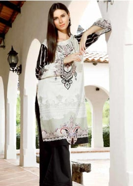 Ittehad Textiles Embroidered Linen Unstitched Kurties ITD19DW PEARLD IVORY - Winter Collection