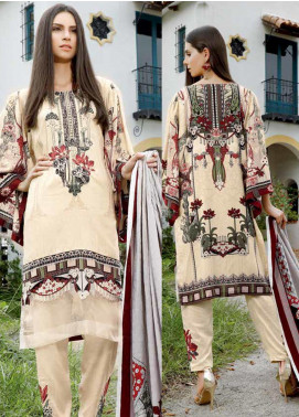 Ittehad Textiles Embroidered Linen Unstitched 3 Piece Suit ITD19DW VANILLA MIST - Winter Collection