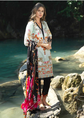 Ittehad Textiles Embroidered Lawn Unstitched 2 Piece Suit ITD20DG BAHAR - Summer Collection