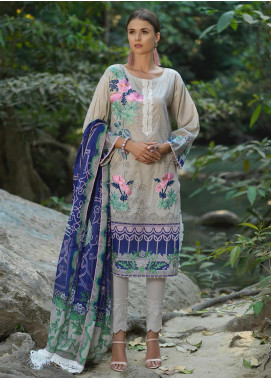 Ittehad Textiles Embroidered Lawn Unstitched 3 Piece Suit ITD20DG FLOWER LAND - Summer Collection