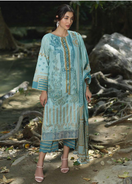 Ittehad Textiles Embroidered Lawn Unstitched 3 Piece Suit ITD20DG GOLD FUSION - Summer Collection