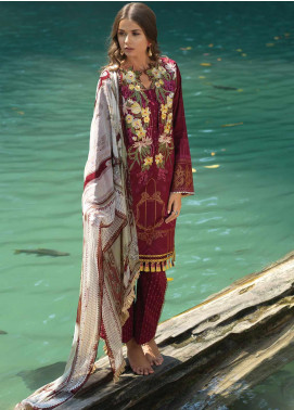 Ittehad Textiles Embroidered Lawn Unstitched 3 Piece Suit ITD20DG IMPRESSION CHINOISE - Summer Collection