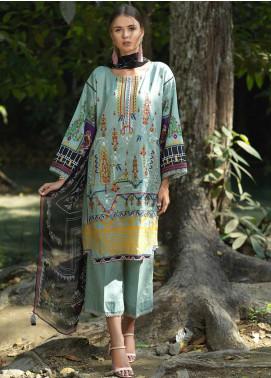 Ittehad Textiles Embroidered Lawn Unstitched 3 Piece Suit ITD20DG JARDIN VEST - Summer Collection