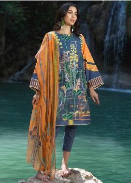 Ittehad Textiles Embroidered Lawn Unstitched 2 Piece Suit ITD20DG MORNING MIST - Summer Collection