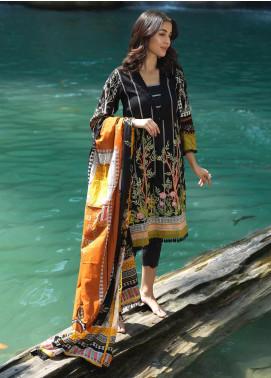 Ittehad Textiles Embroidered Lawn Unstitched 3 Piece Suit ITD20DG NOIR - Summer Collection