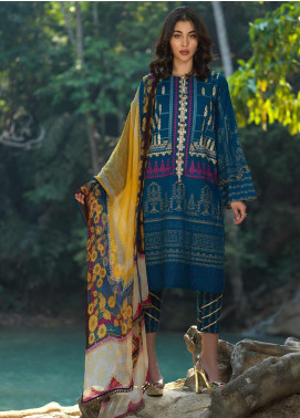 Ittehad Textiles Embroidered Lawn Unstitched 3 Piece Suit ITD20DG PEARLED IVORY - Summer Collection