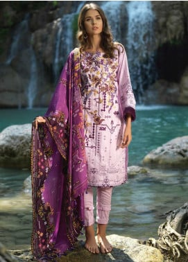 Ittehad Textiles Embroidered Lawn Unstitched 3 Piece Suit ITD20DG PURPLE AFFAIRS - Summer Collection