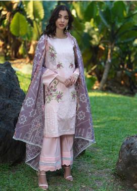 Ittehad Textiles Embroidered Lawn Unstitched 3 Piece Suit ITD20DG PURPLE MIST - Summer Collection