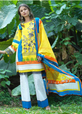 Ittehad Textiles Embroidered Lawn Unstitched 2 Piece Suit ITD20DG SUMMER VIBES - Summer Collection