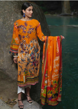 Ittehad Textiles Embroidered Lawn Unstitched 2 Piece Suit ITD20DG SUNSET - Summer Collection