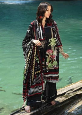 Ittehad Textiles Embroidered Lawn Unstitched 2 Piece Suit ITD20DG VIVID - Summer Collection