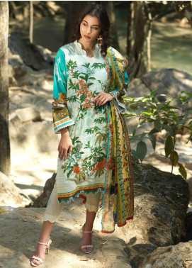 Ittehad Textiles Embroidered Lawn Unstitched 3 Piece Suit ITD20DG WILD GARDEN - Summer Collection