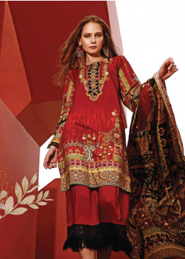 Ittehad Textiles Printed Linen Unstitched 3 Piece Suit ITD19L 1 - Fall Collection