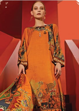 Ittehad Textiles Printed Linen Unstitched 3 Piece Suit ITD19L 10 - Fall Collection