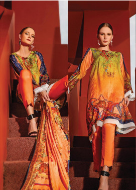 Ittehad Textiles Printed Linen Unstitched 3 Piece Suit ITD19L 12 - Fall Collection