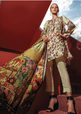 Ittehad Textiles Printed Linen Unstitched 3 Piece Suit ITD19L 13 - Fall Collection
