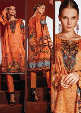 Ittehad Textiles Printed Linen Unstitched 3 Piece Suit ITD19L 14 - Fall Collection